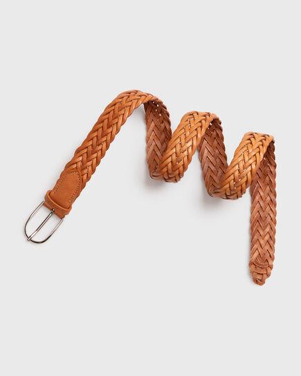 Geflochtener Taillengürtel aus Leder