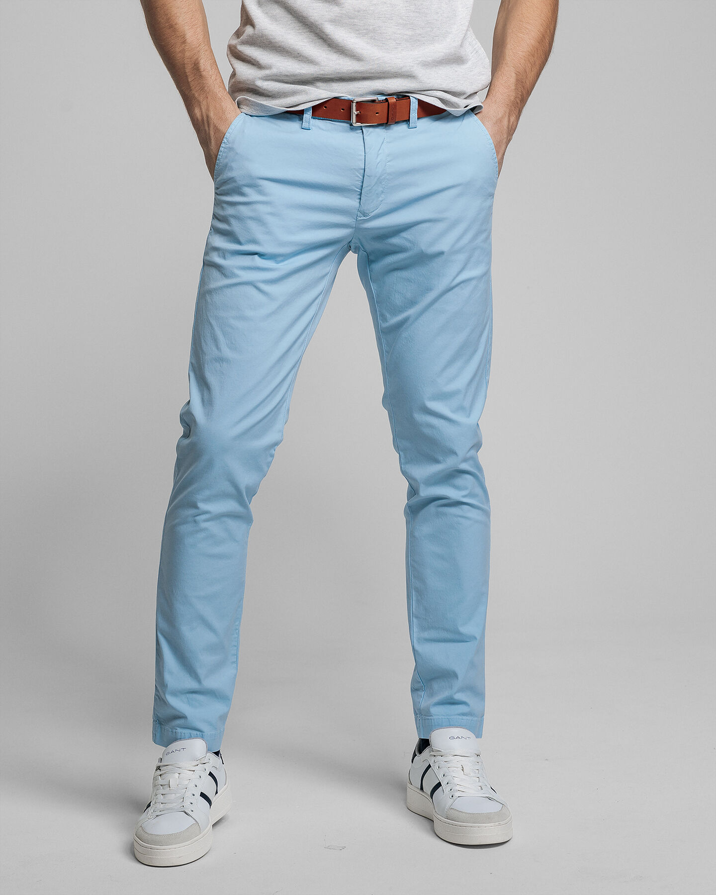 Sunfaded Slim Fit Chinohose
