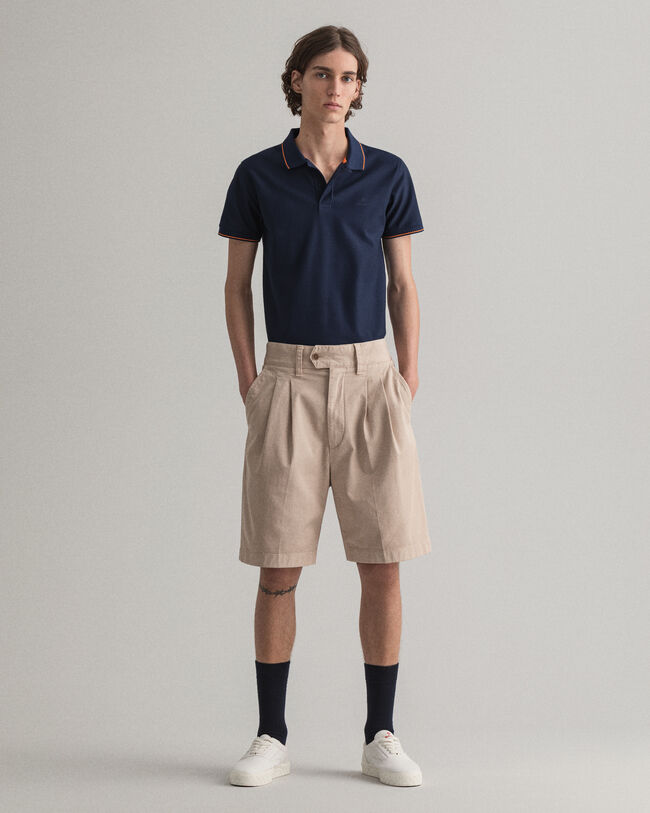 Relaxed Fit Shorts mit Bundfalten