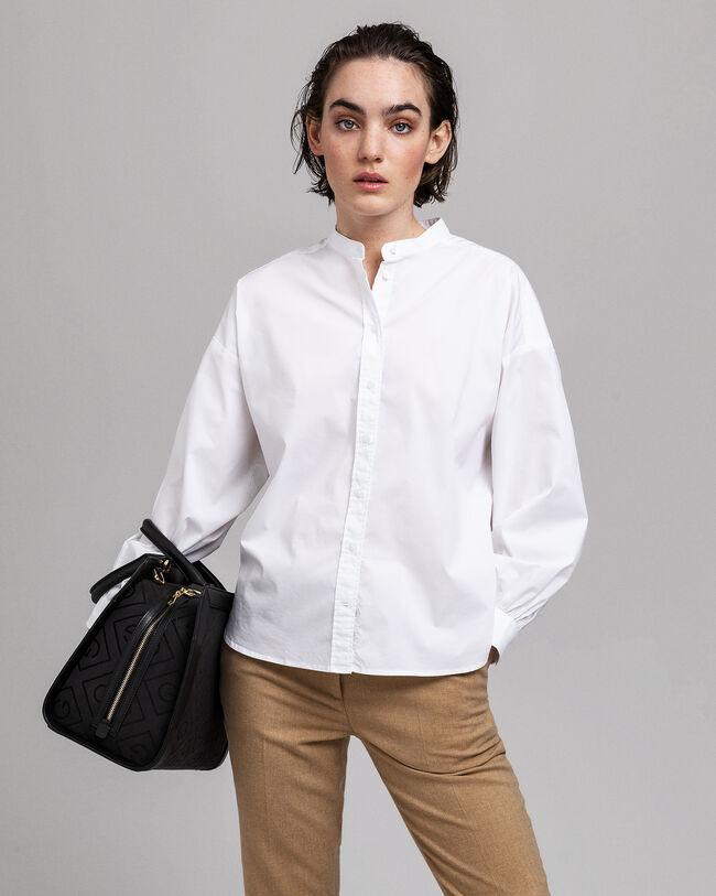 Tech Prep™ Oversized Bluse mit Stehkragen