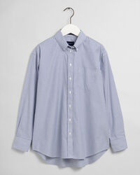 Relaxed Pinpoint Oxford-Bluse mit Streifen