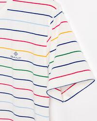 Bunt gestreiftes T-Shirt