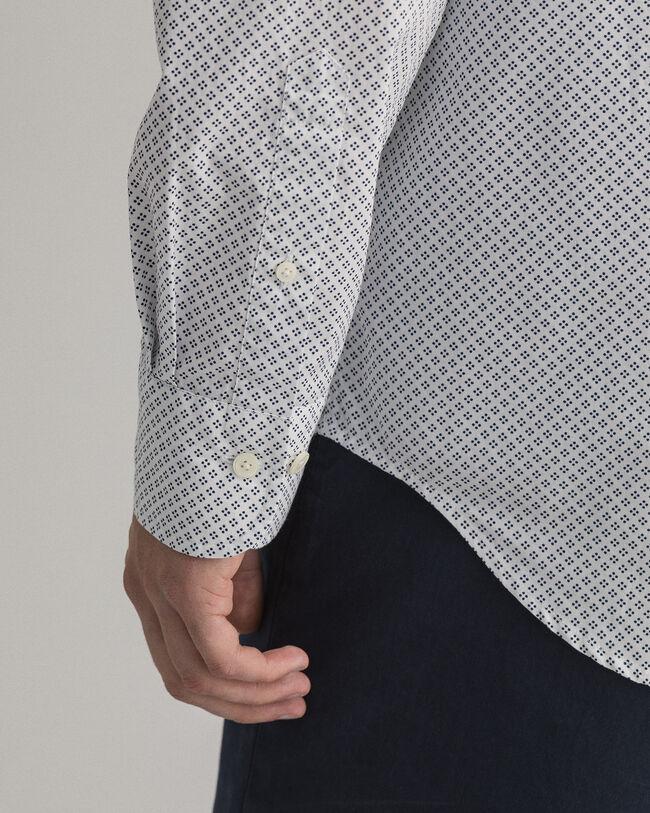 Regular Fit Hemd mit Pünktchen-Print