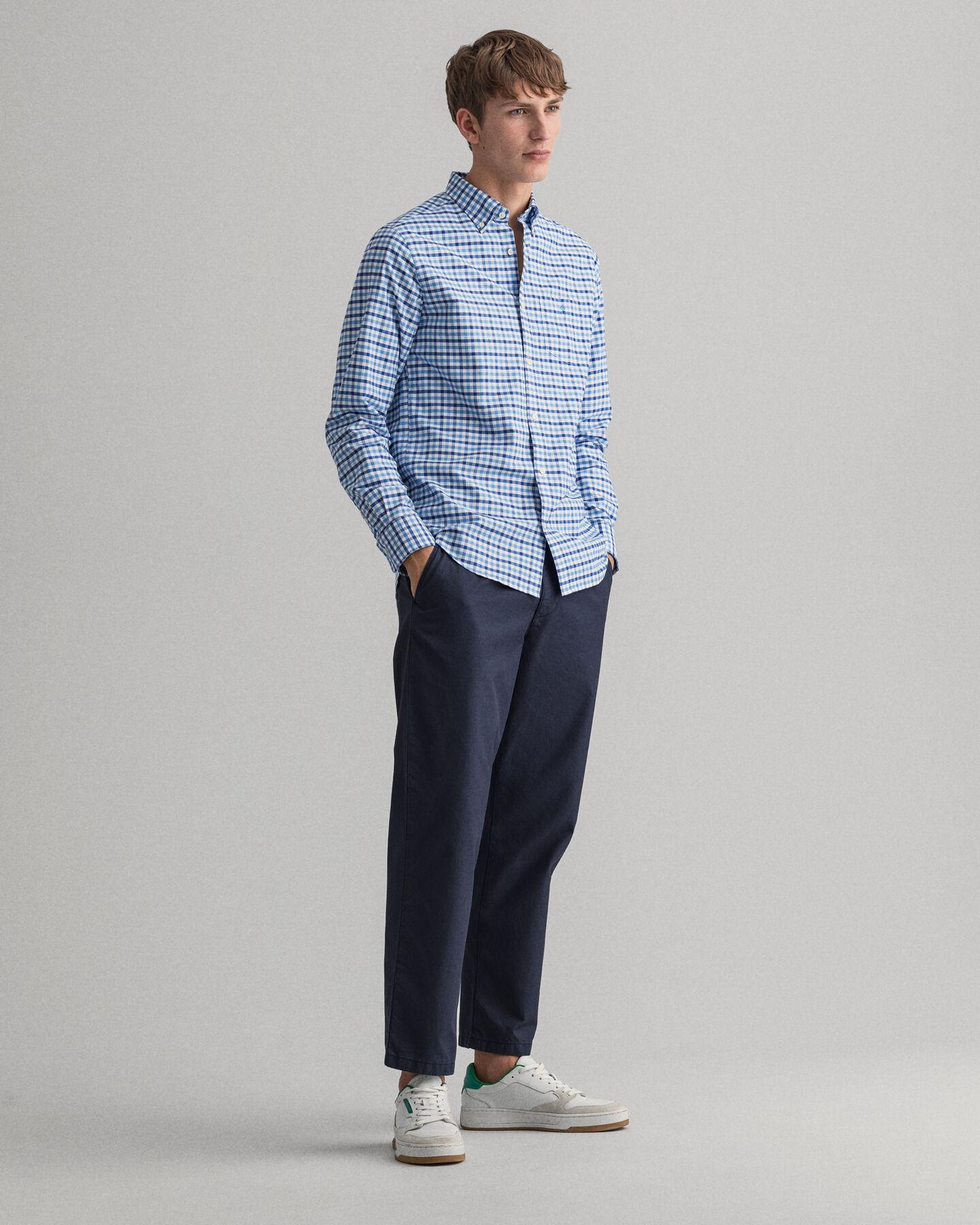 Regular Fit Oxford-Hemd mit Vichy-Karo in 2Farben