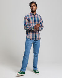 Tech Prep™ Indigoblaues Regular Fit Tartan Hemd