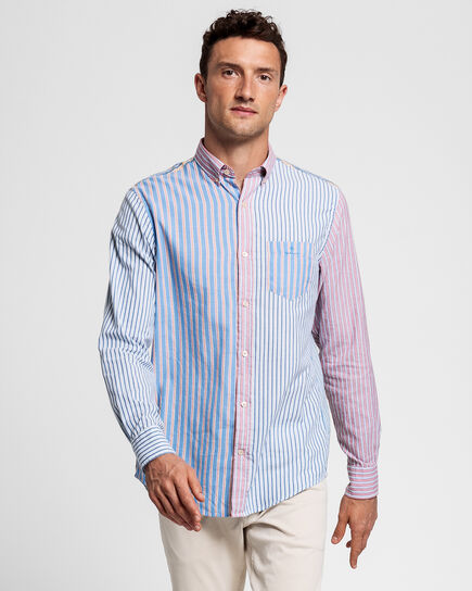 Windblown Regular Fit Oxford-Hemd mit Streifenmix