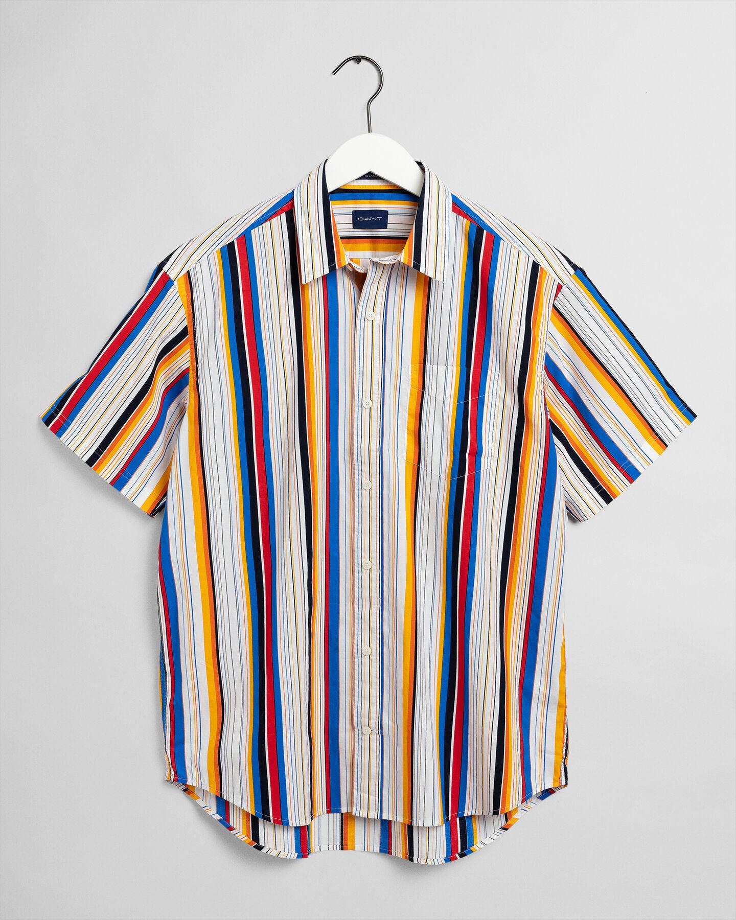 Relaxed Fit Hemd mit markantem Streifen