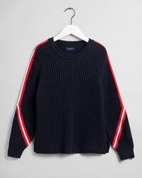Pullover mit Streifendetail am Ärmel