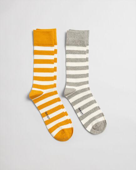 2er-Pack Socken mit Streifen