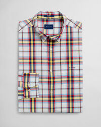 Tech Prep™ Indigoblaues Regular Fit Tartan Hemd