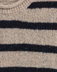 Texture Rundhalspullover mit Marinestreifen und Noppenstruktur