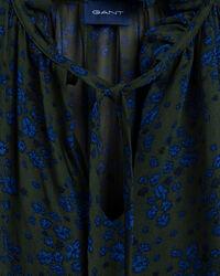 Fall Flower Crinkle Bluse