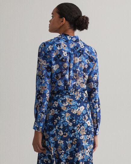 Liberation Bouquet Baumwoll Seiden Bluse mit Print