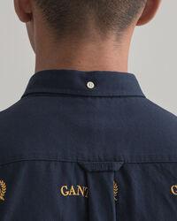 Regular Fit Shield Oxford-Hemd mit Stickerei