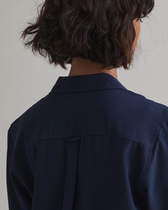 Bluse aus Seiden-Crêpe-de-Chine