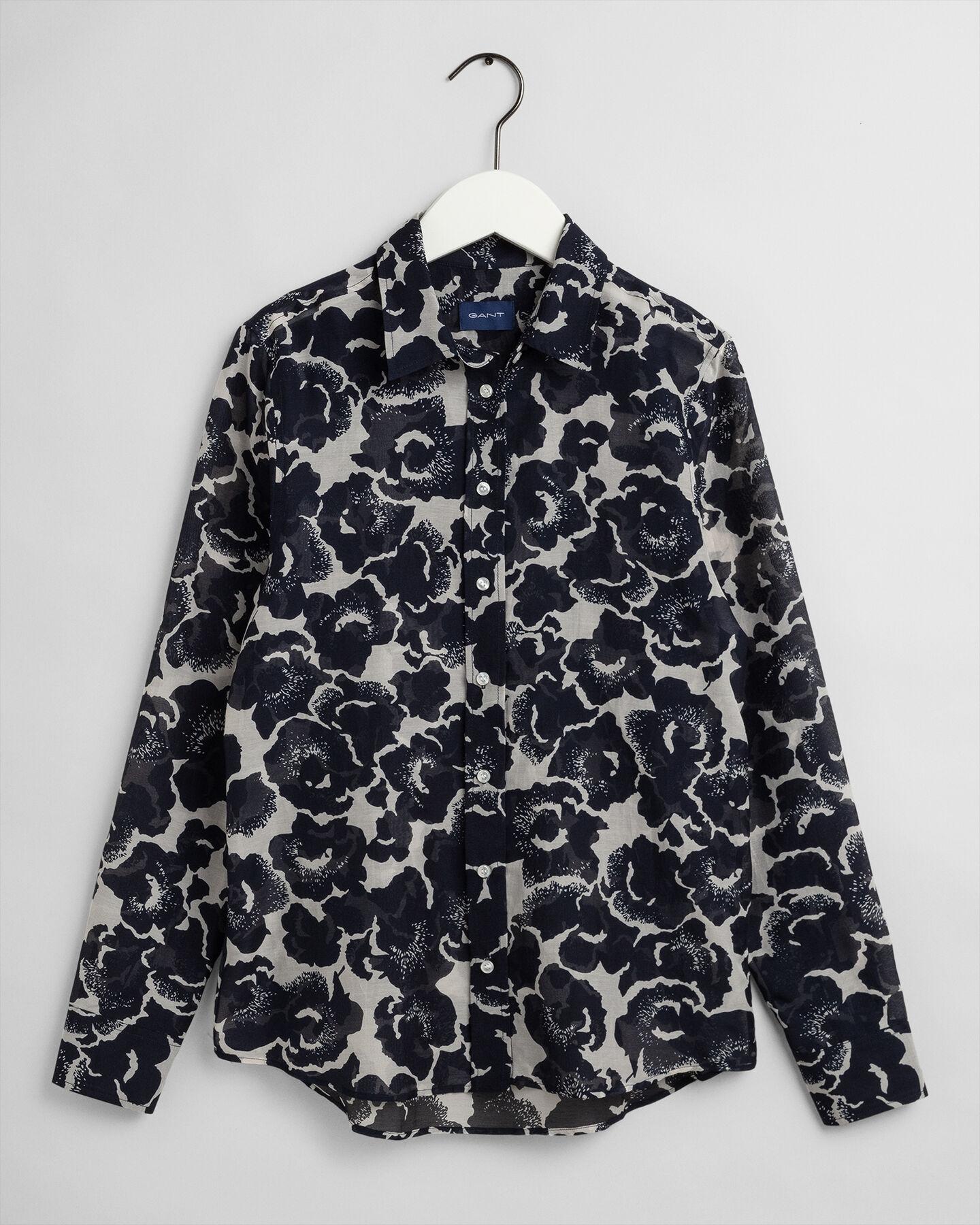 Snow Blossom Bluse aus Baumwoll-Seiden-Mischung
