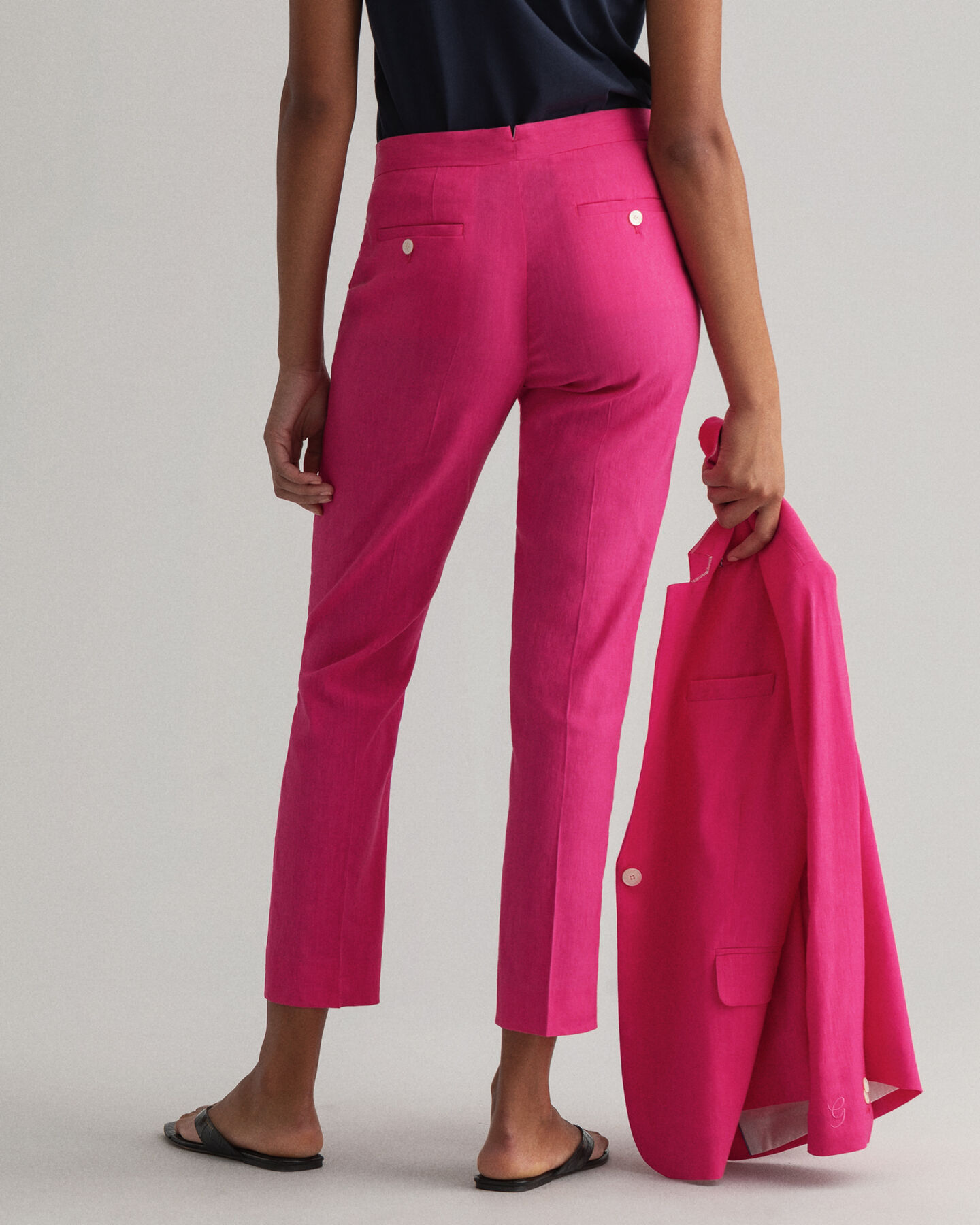 Stretch Leinen Tapered Hose