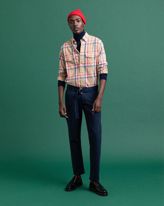 Hugger-Fit Hemd mit großem Tartan-Muster