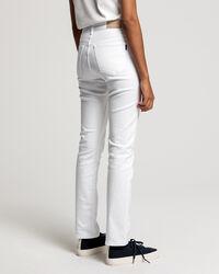 Weiße Slim Fit Jeans