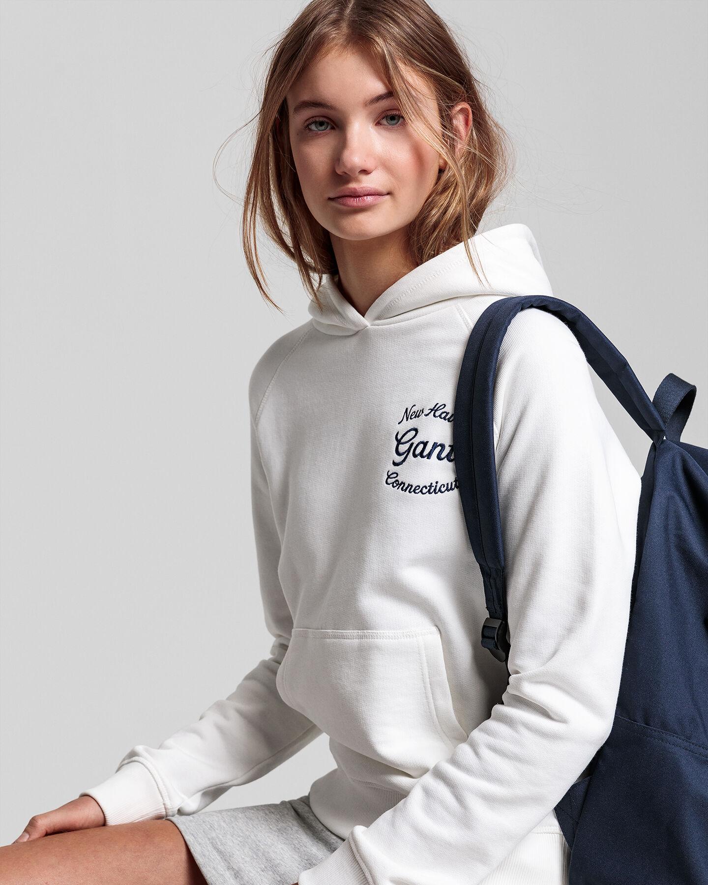 Teen Girls Logo Hoodie mit Schriftzug