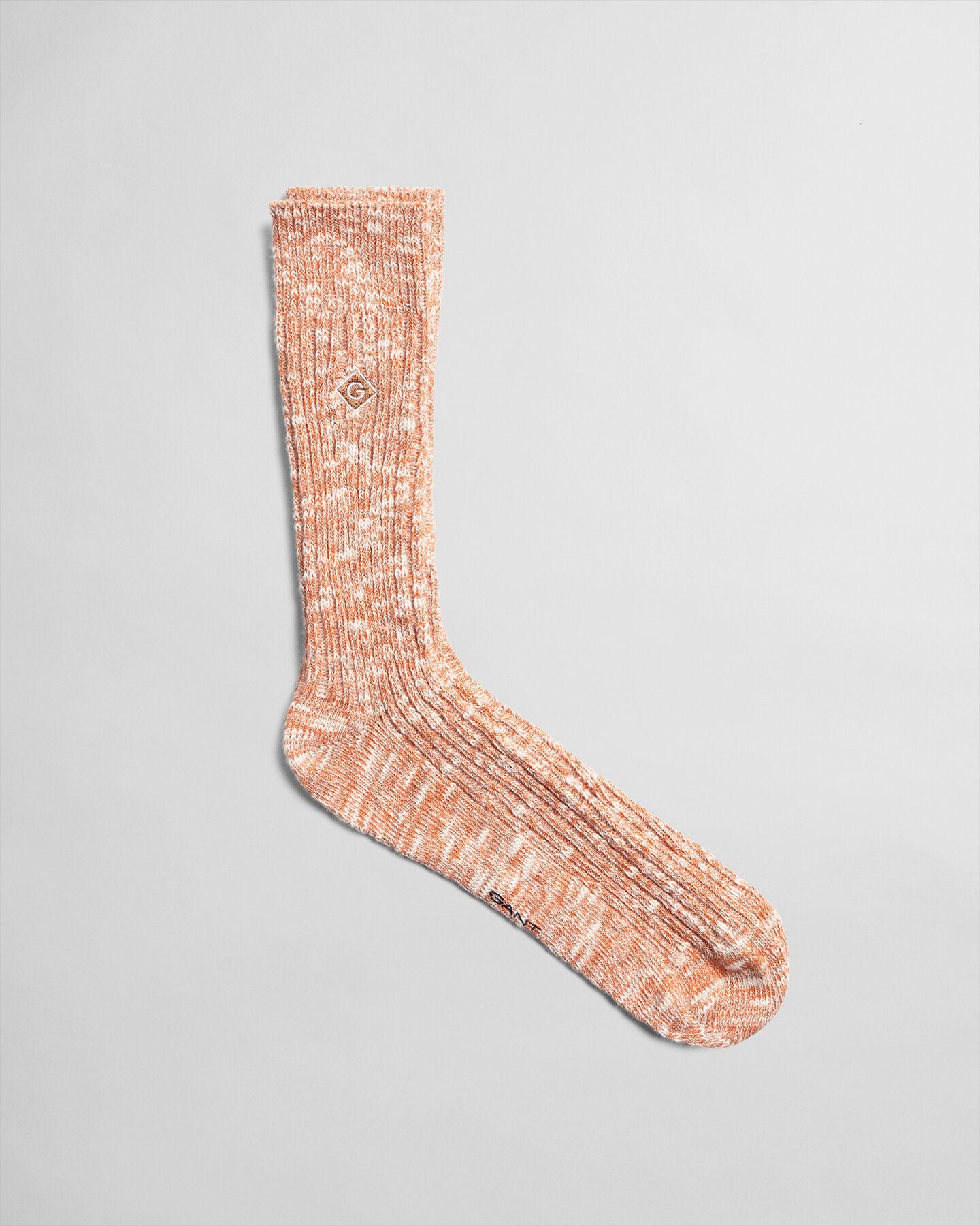 Socken aus meliertem Garn