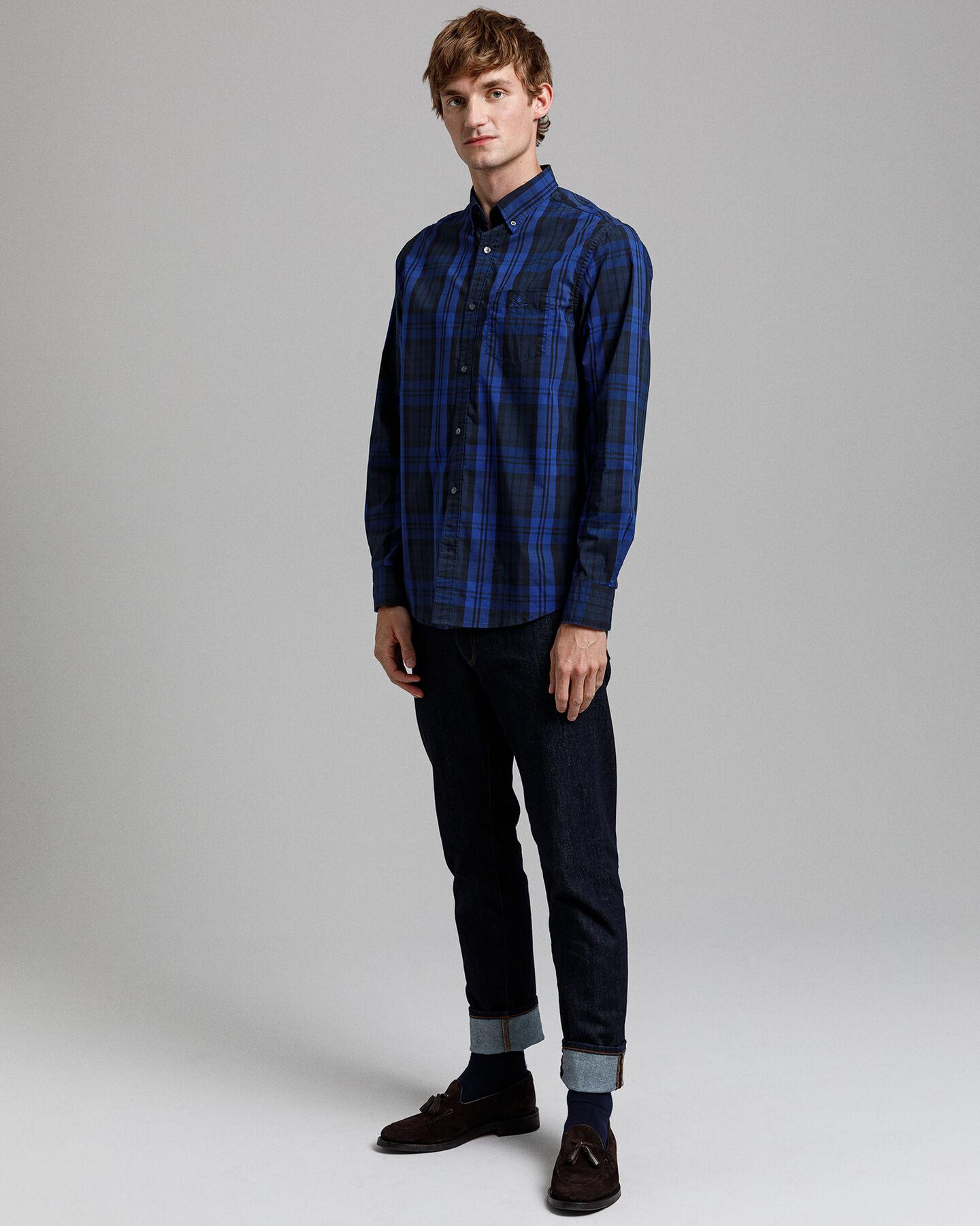 Tech Prep™ Regular Fit Broadcloth Hemd im Winterkaro