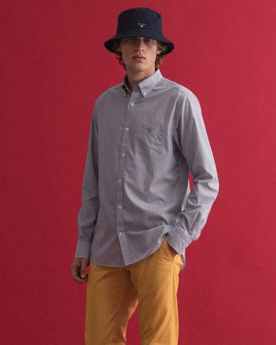 Regular Fit Broadcloth Hemd mit Banker-Streifen