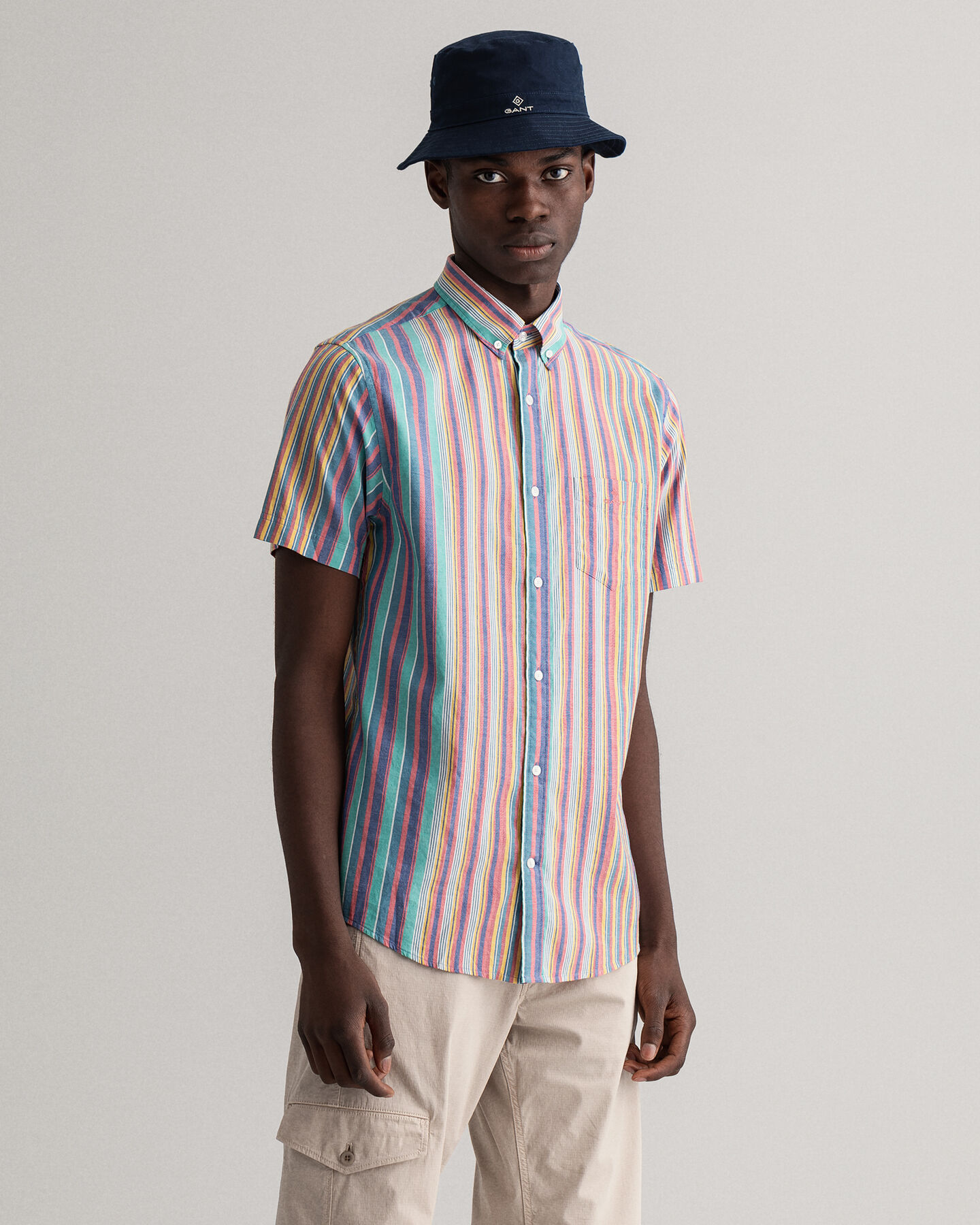 Windblown Oxford Relaxed Fit Hemd mit Streifen