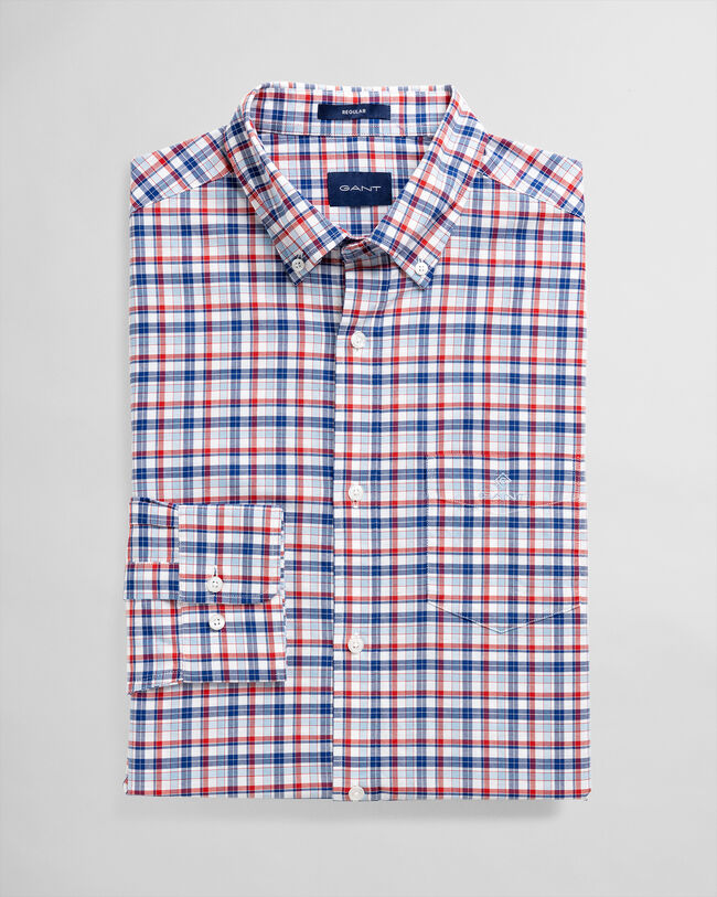 Regular Fit Micro Madras Oxford-Hemd