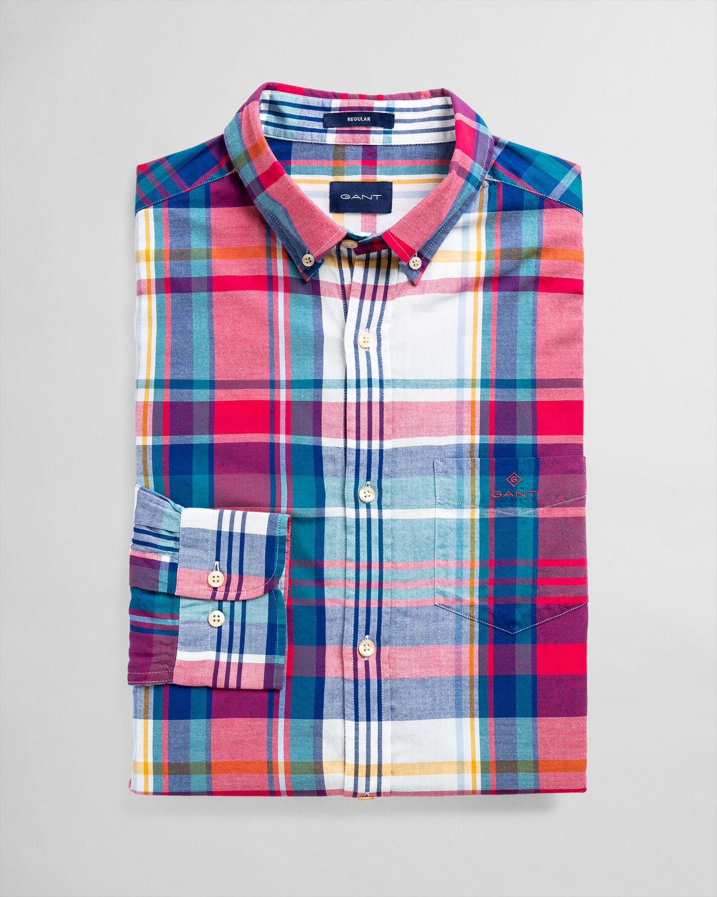 Windblown Regular Fit Oxford-Hemd im Madras-Karo