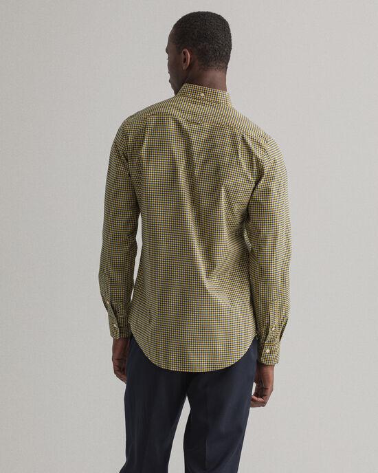 Slim Fit Broadcloth Hemd mit Vichy-Karo in 2 Farben