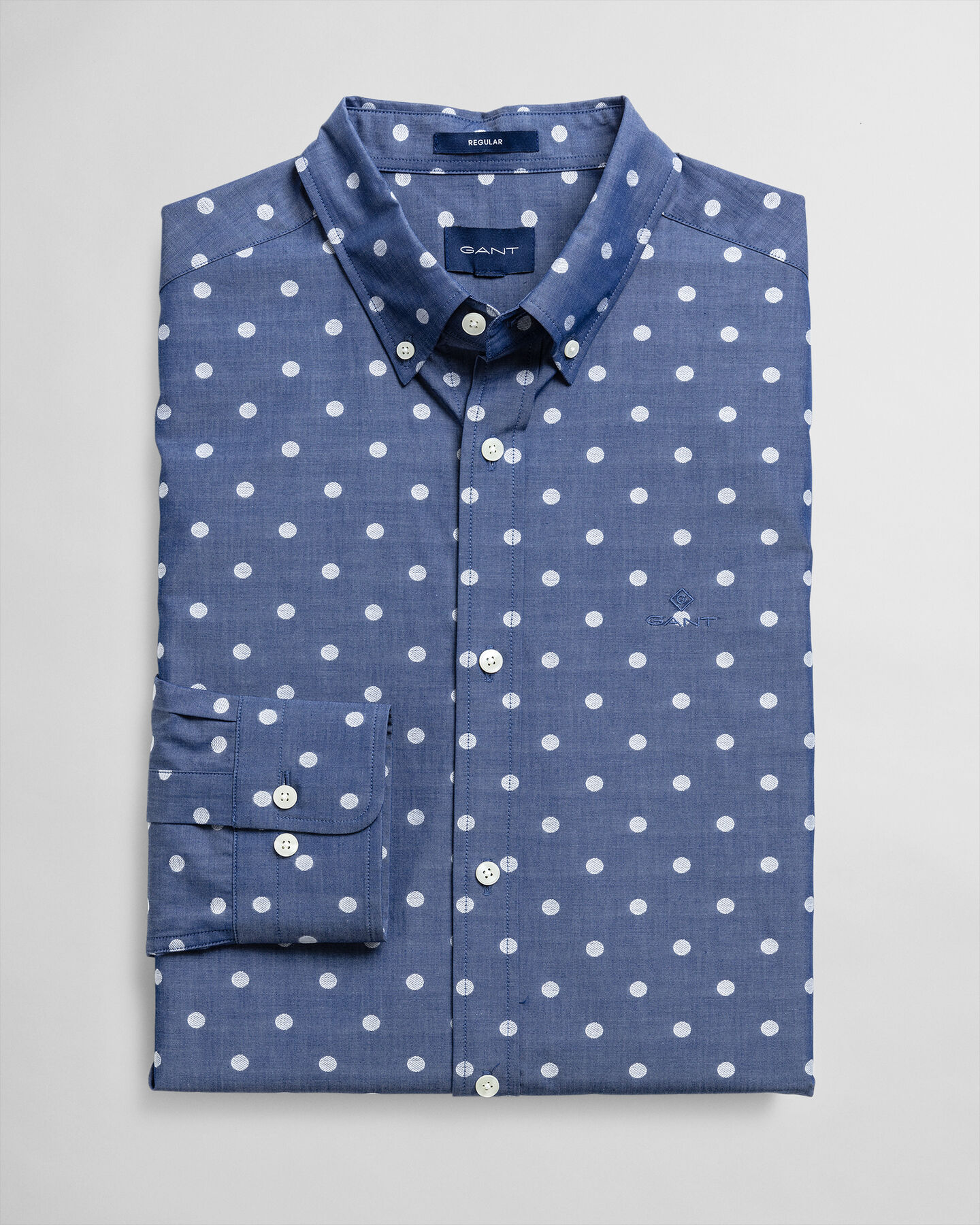 Polka Dot Fil Coupé Regular Fit Hemd