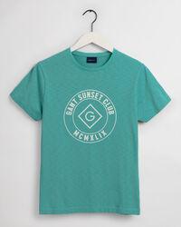 Sunset Club T-Shirt mit Print
