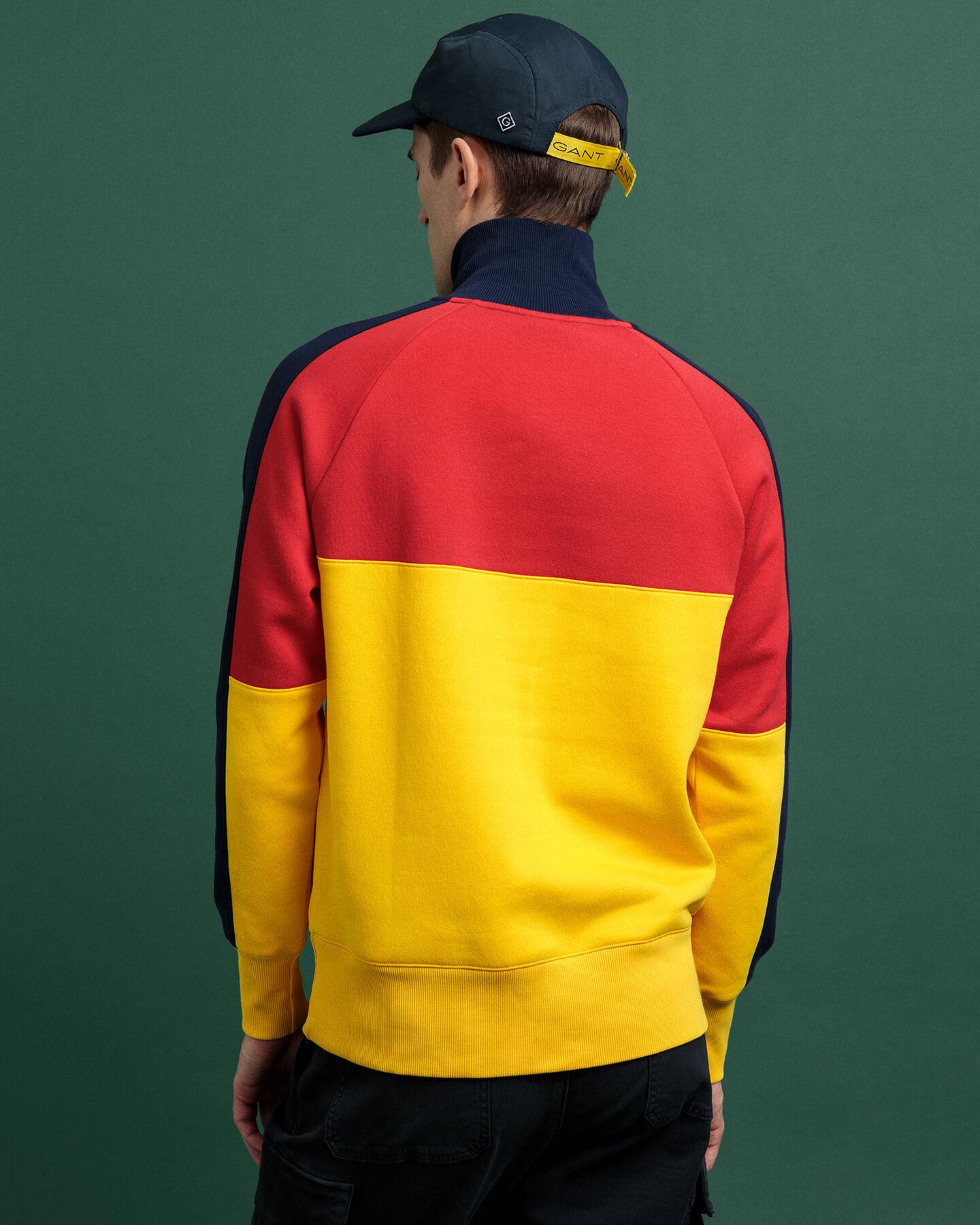 GANT Sport Sweatshirt mit Reißverschluss am Kragen