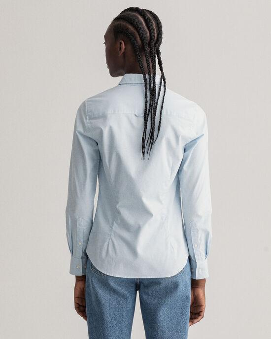 Stretch Oxford-Bluse