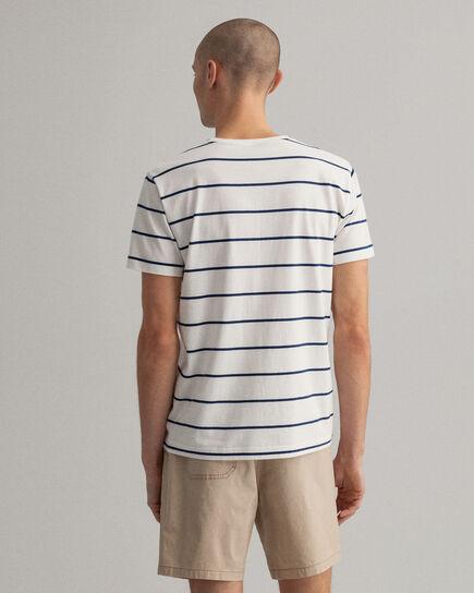 T-Shirt mit Marinestreifen