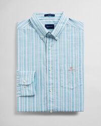 Regular Fit Jaspé Hemd mit Streifen