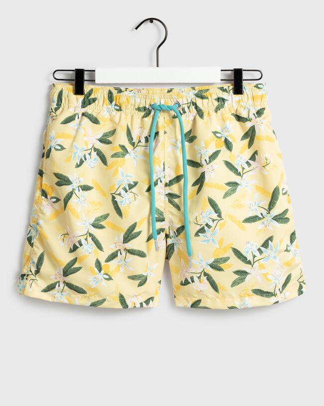 Classic Fit Lemon Flower Badeshorts