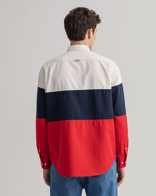 Relaxed Fit Blockfarben Hemd
