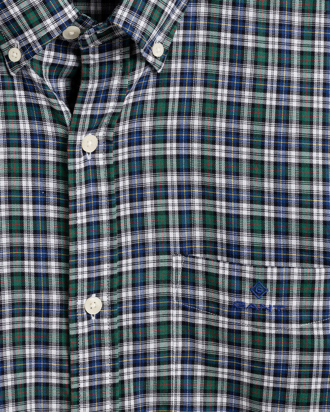 Tech Prep™ Regular Fit Twill Hemd mit Mini-Tartan-Muster