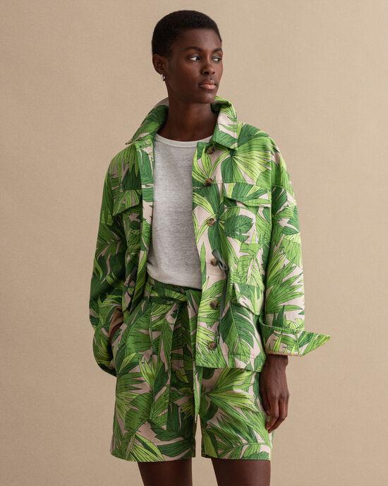 Palm Breeze Feldjacke mit Print