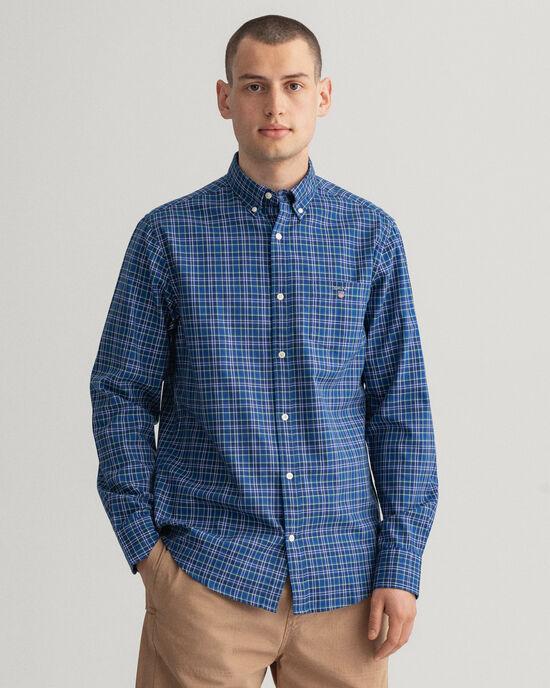 Regular Fit Oxford-Hemd mit Mini-Tartan-Muster
