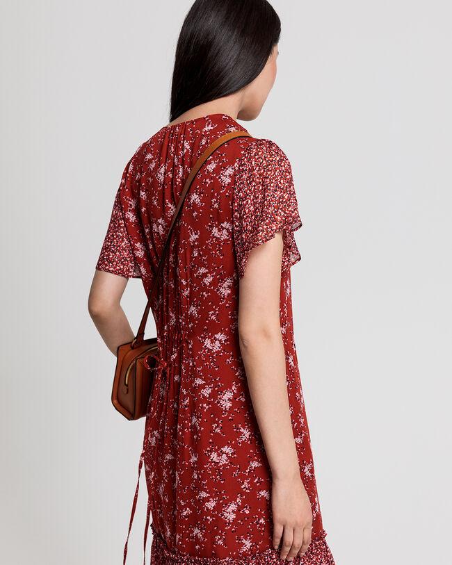 Chiffon Kleid mit Print-Mix