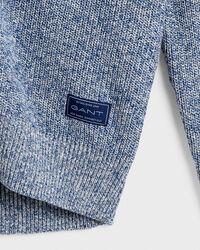 Baumwoll Leinen Strickjacke mit Schalkragen