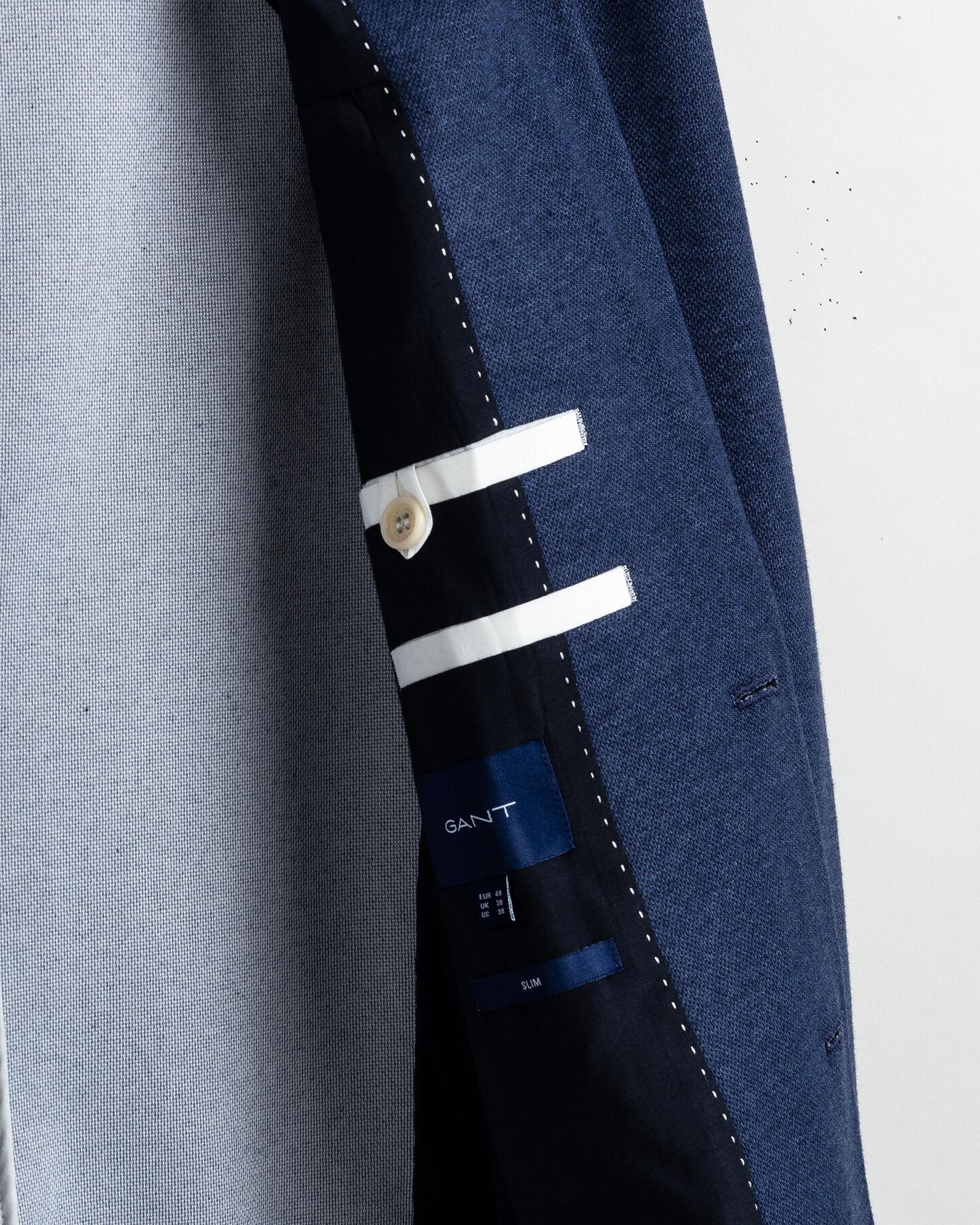 Maschinenwaschbares Jersey Piqué Sakko