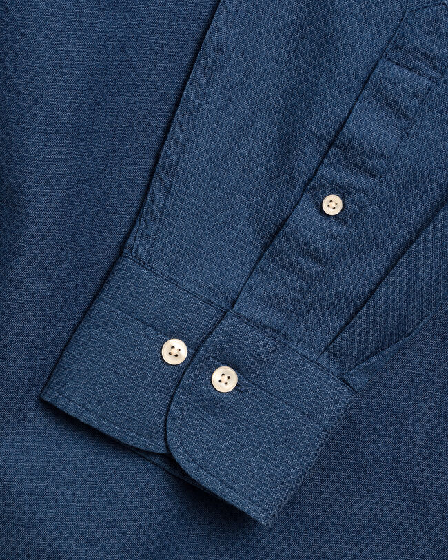 Tech Prep™ Slim Fit Dobby Hemd in Indigoblau