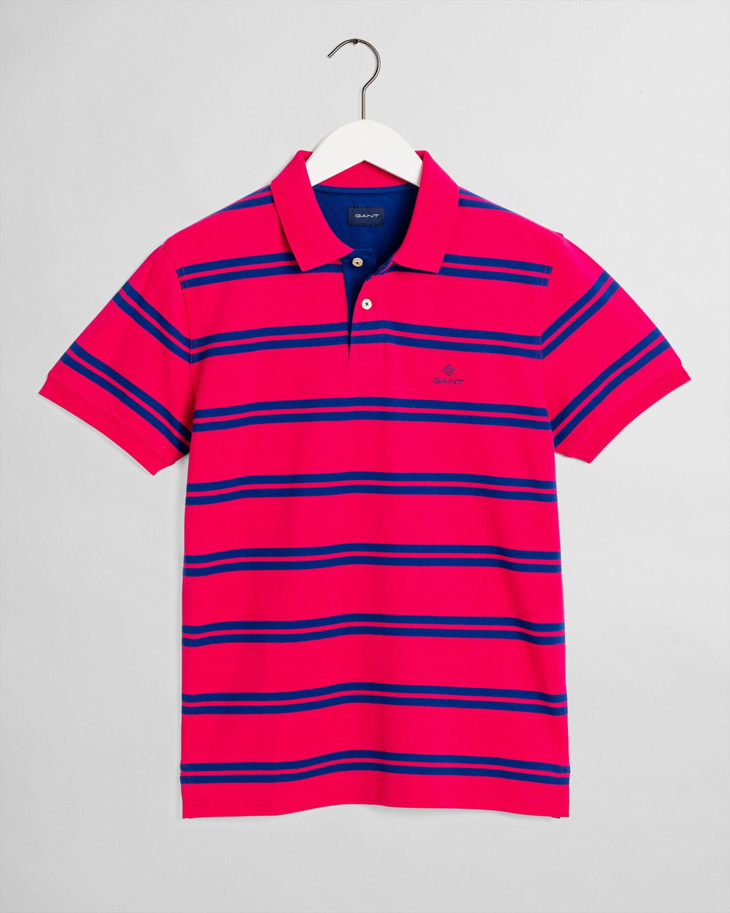Piqué Poloshirt mit Kontraststreifen