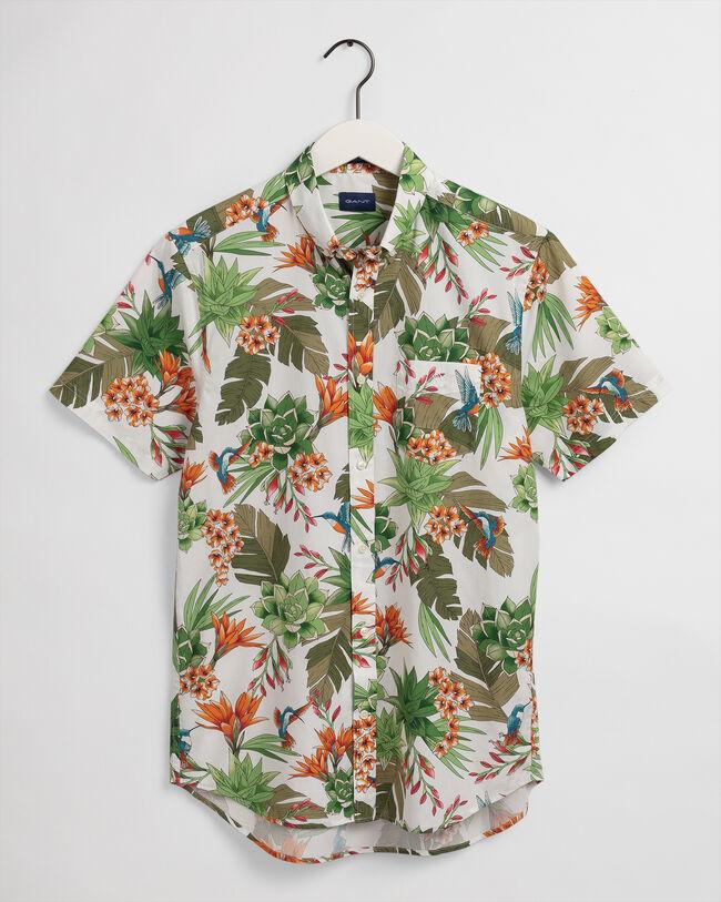 Humming Garden Regular Fit Kurzarm Hemd mit Print