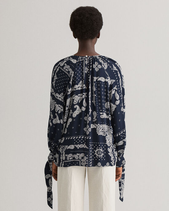 Bluse mit Paisley-Muster