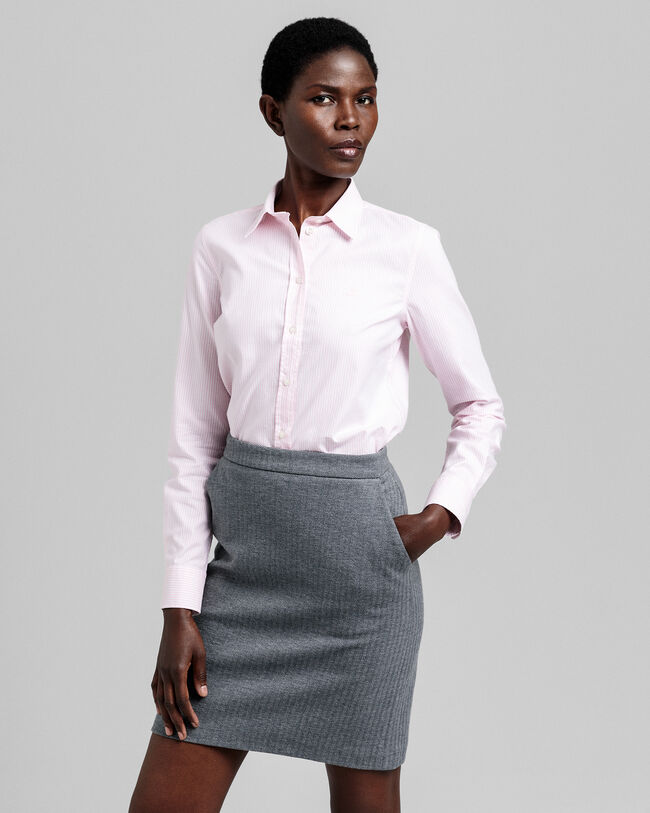 Slim Fit Banker Oxford-Bluse